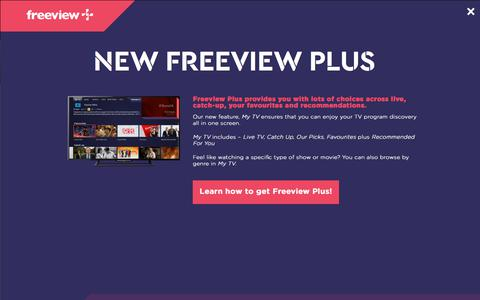 Screenshot of Contact Page freeview.com.au - Contact Us - captured June 27, 2017