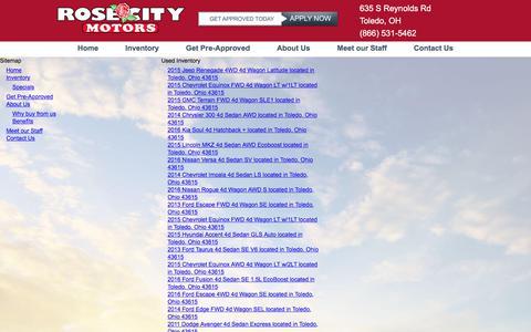 Screenshot of Site Map Page rosecitymotors.com - Rose City Motors in Toledo, OH - Rose City Motors - Toledo, OH - captured June 15, 2017