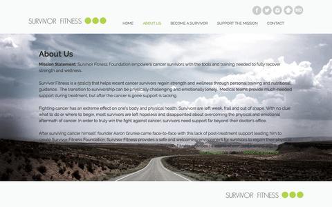 Screenshot of About Page survivorfitness.org - About Us - Survivor Fitness - captured Nov. 6, 2017