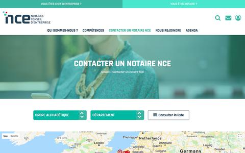 Screenshot of Contact Page notaires-nce.fr - Trouver & contacter un notaire conseil pour professionnels - captured July 10, 2018