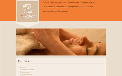 Screenshot of Site Map Page zemassage.fr - zemassage - captured Jan. 10, 2016