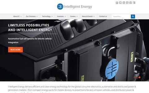 Screenshot of Home Page intelligent-energy.com - Home | Intelligent Energy - captured Nov. 3, 2015