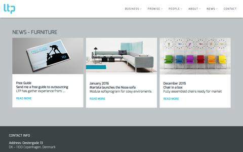 Screenshot of Press Page l-t-p.com - NEWS - Furniture — L-T-P - captured Oct. 11, 2016