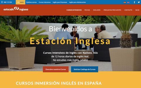 Screenshot of Home Page estacioninglesa.es - Inmersion ingles en España   Estacion Inglesa - captured Jan. 31, 2016