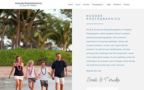 Screenshot of About Page hughesphoto.net - About - Maui Wedding Photographer - captured Sept. 29, 2018