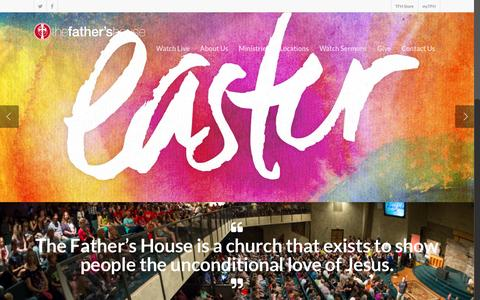 Screenshot of Home Page fathershouse.net - The Father's House Church - Hutchinson, Kansas - captured Feb. 15, 2016