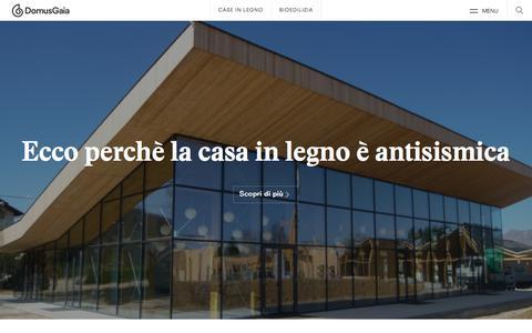 Screenshot of Press Page domusgaia.it - News - DomusGaia - captured Aug. 7, 2018