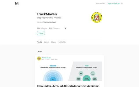 TrackMaven – Medium