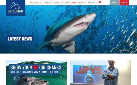 Screenshot of Press Page bite-back.com - News - Bite-Back - captured Oct. 10, 2017