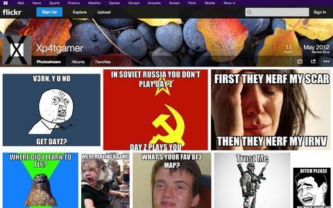 Screenshot of Flickr Page flickr.com - Flickr: Xp4tgamer's Photostream - captured Oct. 23, 2014