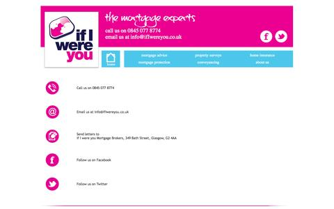 Screenshot of Contact Page ifiwereyou.co.uk - Contact if I were you, the property and finance experts - captured Sept. 30, 2014