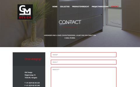 Screenshot of Contact Page gmdesign.nl - Contact |GM Design - captured Sept. 30, 2014
