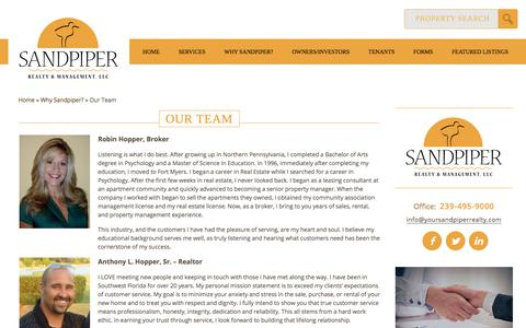 Screenshot of Team Page yoursandpiperrealty.com - Our Team | Sandpiper Realty & Management, LLCSandpiper Realty and Management, LLC - captured Oct. 4, 2017
