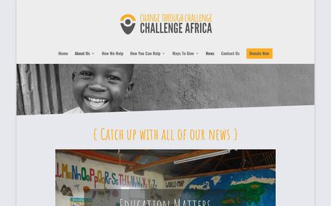 Screenshot of Press Page challengeafrica.org.uk - News - Challenge Africa - captured May 16, 2017