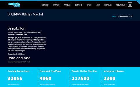 Screenshot of melevsreef.com - DFWMAS Winter Social | Melev's Reef - captured Nov. 25, 2017