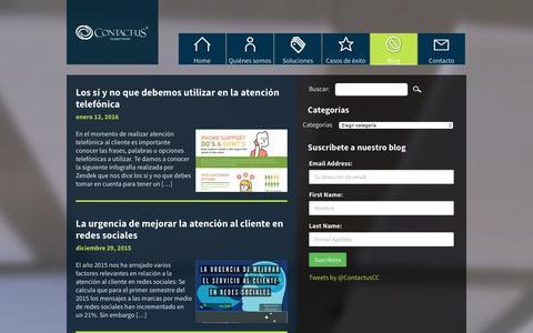 Screenshot of Blog contactus.com.mx - CONTACT-US Blog - Contactus Contact Center - captured Jan. 23, 2016