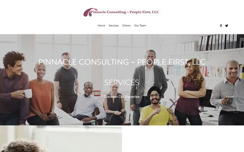 Screenshot of Services Page pinnaclepeoplefirst.com - HR Consulting Services | Pinnacle Consulting - captured Nov. 2, 2018