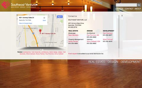 Screenshot of Contact Page southeastventure.com - Southeast Venture - captured Oct. 7, 2014