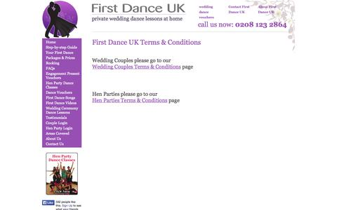 Screenshot of Terms Page firstdanceuk.co.uk - First Dance UK - Terms and Conditions - captured Sept. 30, 2014
