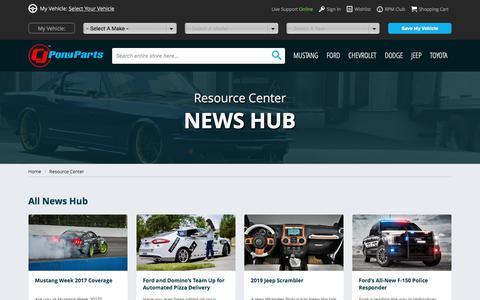 Screenshot of Press Page cjponyparts.com - News Hub | Auto News & Updates | CJ Pony Parts - captured Oct. 5, 2017