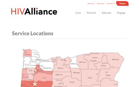 Screenshot of Locations Page hivalliance.org - Offices & Service Locations   HIV Alliance - captured Nov. 4, 2018