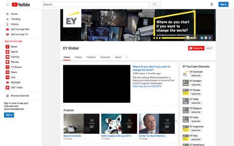 EY Global  - YouTube