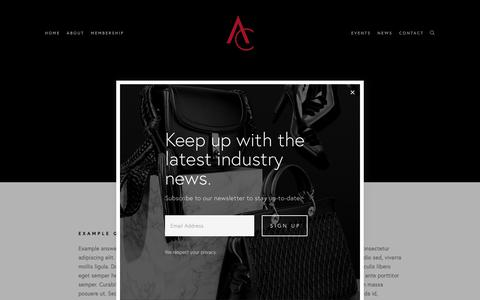 Screenshot of FAQ Page accessoriescouncil.org - FAQ — Accessories Council - captured Nov. 6, 2018