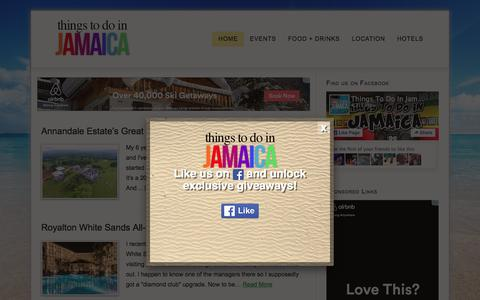 Screenshot of Home Page things-to-do-in-jamaica.com - Things To Do in Jamaica — Find Out The Best Things To Do in Jamaica - captured March 15, 2016