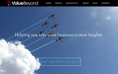 Screenshot of Home Page valuebeyond.com.au - Value Beyond — Business Advisors & Chartered Accountants Brisbane - captured Sept. 5, 2015