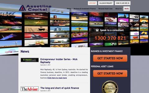 Screenshot of Press Page assetline.com.au - News   Assetline Capital - captured Nov. 4, 2014