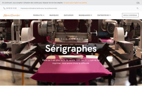 Screenshot of Home Page main-gauche.com - Main Gauche : Atelier de broderie et d'impression textile à Montpellier - captured Nov. 23, 2018