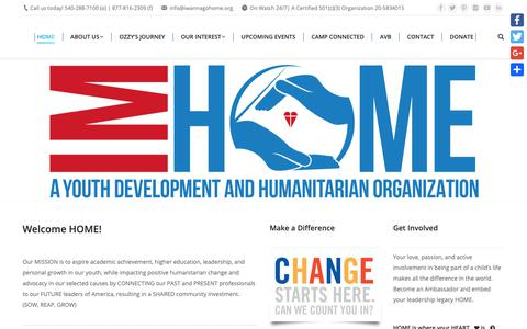 Screenshot of Home Page iwannagohome.org - IMHOME – SOW, REAP, GROW - captured Sept. 29, 2018