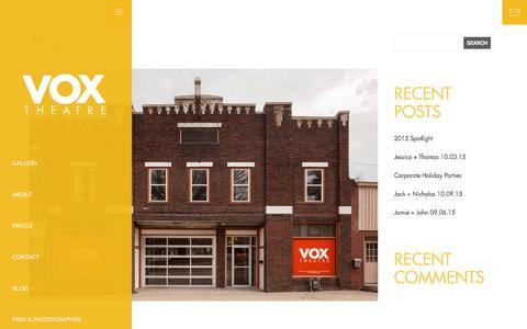 Screenshot of Blog voxtheatre.com - Blog - Kansas City Event Space - Vox TheatreKansas City Event Space Đ Vox Theatre - captured Jan. 11, 2016