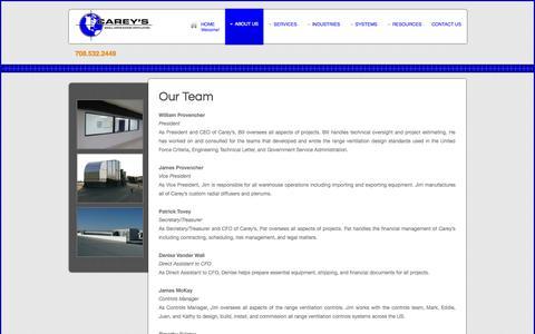 Screenshot of Team Page careyscentral.com - Our Team - captured Oct. 1, 2014