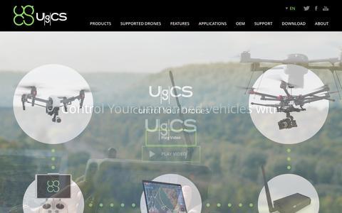 Screenshot of Home Page ugcs.com - Ground Station Software | UgCS PC Mission Planning - captured Nov. 18, 2016