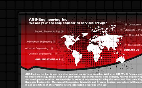 Screenshot of Home Page ags-engineering.com - Engineering Services and Design New Mexico | Reverse Engineering | Research and Product Development | AGS-Engineering Inc. Albuquerque New Mexico - captured Oct. 6, 2017