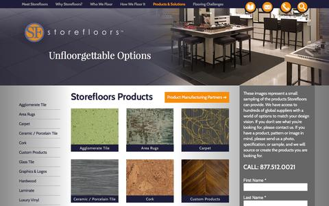 Screenshot of Products Page storefloors.com - Storefloors™ Products & Solutions - captured Feb. 25, 2016