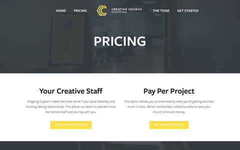 Screenshot of Pricing Page creativechurchstaffing.com - Pricing — Creative Church Staffing - captured March 1, 2016