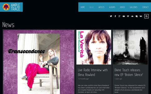 Screenshot of Press Page ampletrace.com - Latest News | Ample Trace Music - captured Oct. 4, 2014
