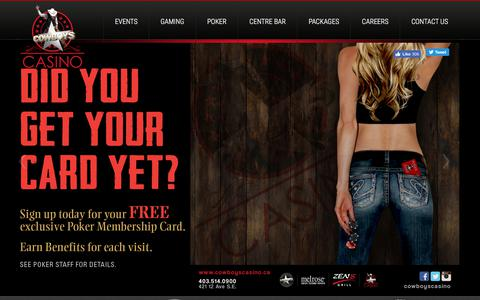 Screenshot of Home Page cowboyscasino.ca - Cowboys Casino   Calgary, Alberta - captured July 22, 2018