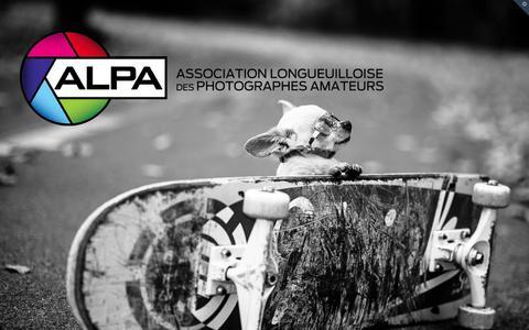 Screenshot of Home Page alpaphoto.ca - Club Photo ALPA   Association longueuilloise des photographes amateurs - captured Oct. 8, 2015