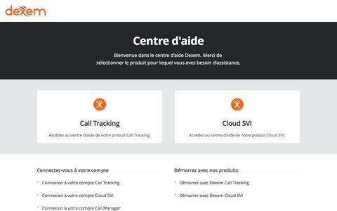 Screenshot of Support Page dexem.com - Centre d'aide Dexem - captured June 4, 2017