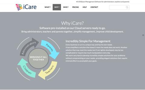 Screenshot of Team Page icaresoftware.com - Find out what makes iCare the #1 choice for childcare management software and parent-teacher communication tool - captured Feb. 14, 2016