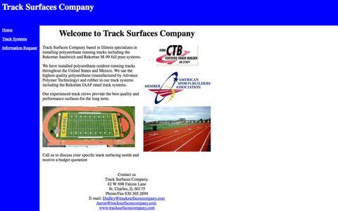 Screenshot of Home Page tracksurfacesco.com - Track Surfaces Company - captured Oct. 6, 2014