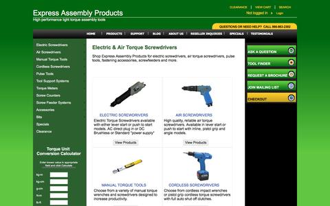 Screenshot of Products Page expressassembly.com - Express Assembly Products list of products - captured Nov. 14, 2016