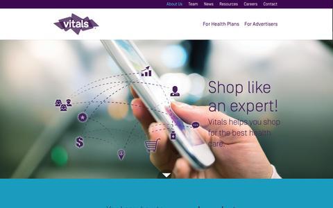 Screenshot of About Page vitals.com - About Us | Vitals - captured Dec. 3, 2015