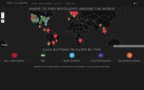 Screenshot of Maps & Directions Page revolights.com - Maps - Revolights - Bike Lights - captured Nov. 21, 2015