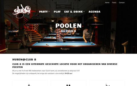 Screenshot of Home Page club-8.nl - Club 8 Amsterdam - captured June 17, 2015