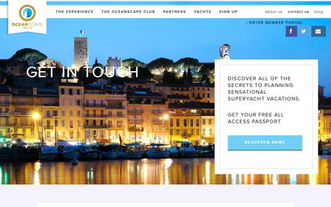 Screenshot of Contact Page oceanscapeyachts.com - Contact us - OceanScape Yachts - captured June 11, 2017