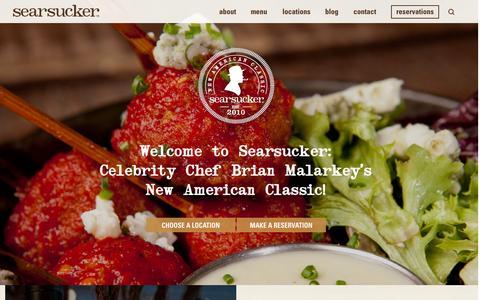Screenshot of Home Page searsucker.com - Searsucker Restaurants :: New American Classic - captured June 17, 2015